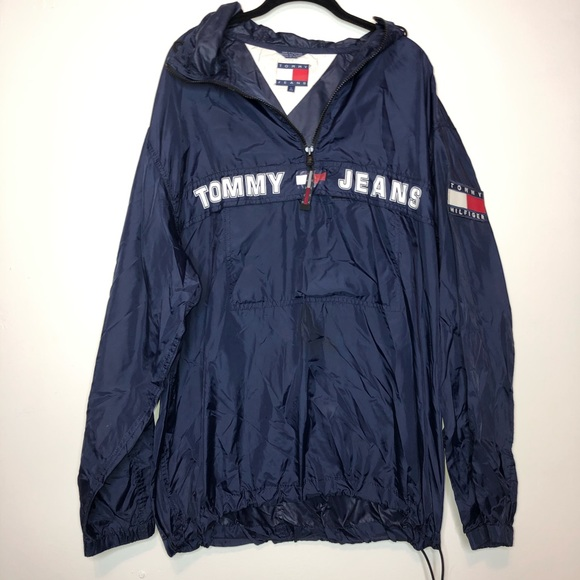 Tommy Hilfiger Jackets & Blazers - Tommy Hilfiger SpellOut Thin Rain Jacket Pullover